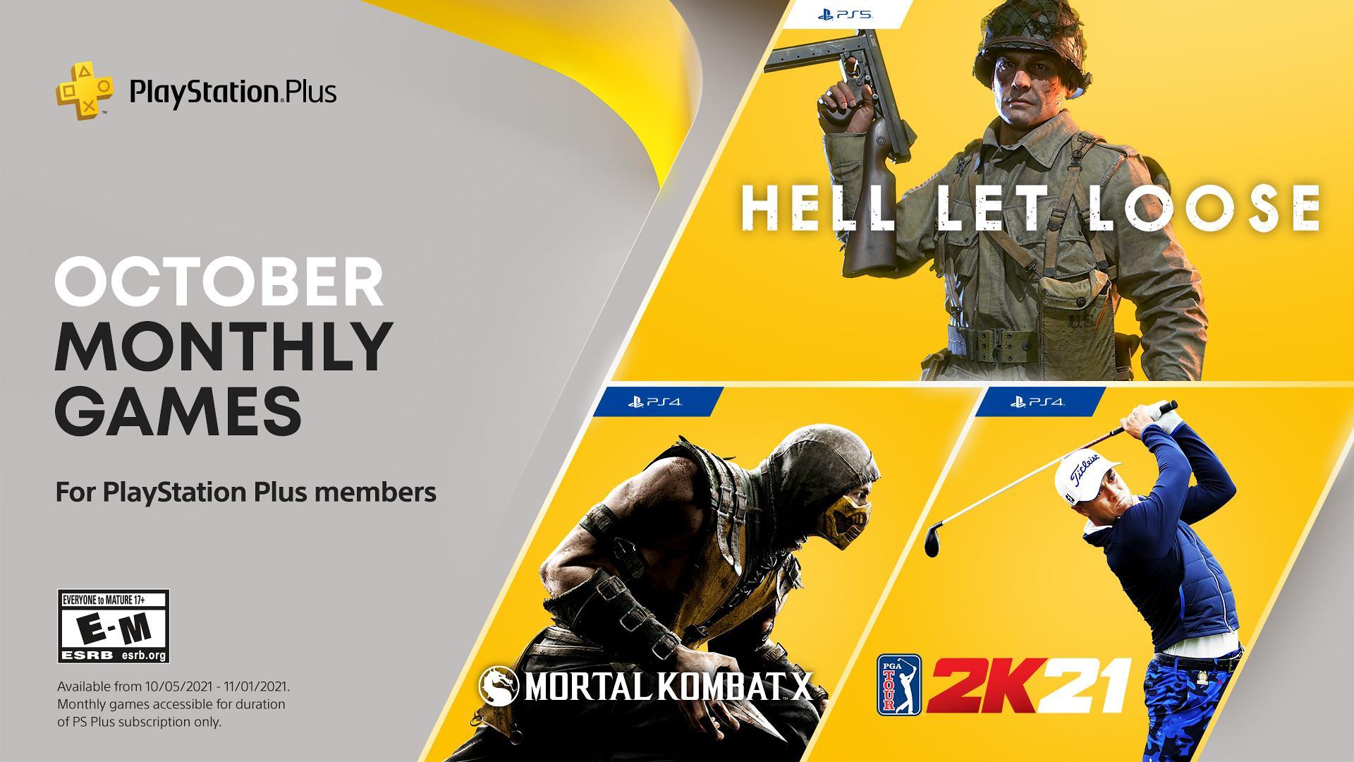 Els jocs disponibles a partir del 5 d'octubre amb la subscripció a PS Plus. / PlayStation