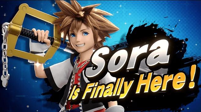 Sora, el nou personatge de Super Smash Bros.